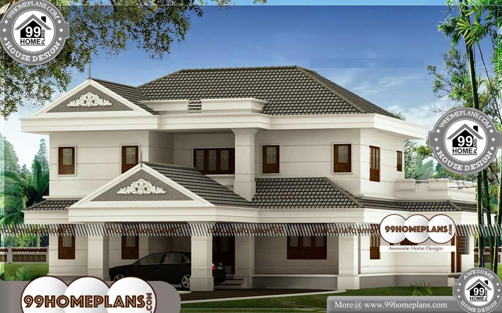 Kerala Home Plans Low Budget - 2 Story 3120 sqft-HOME