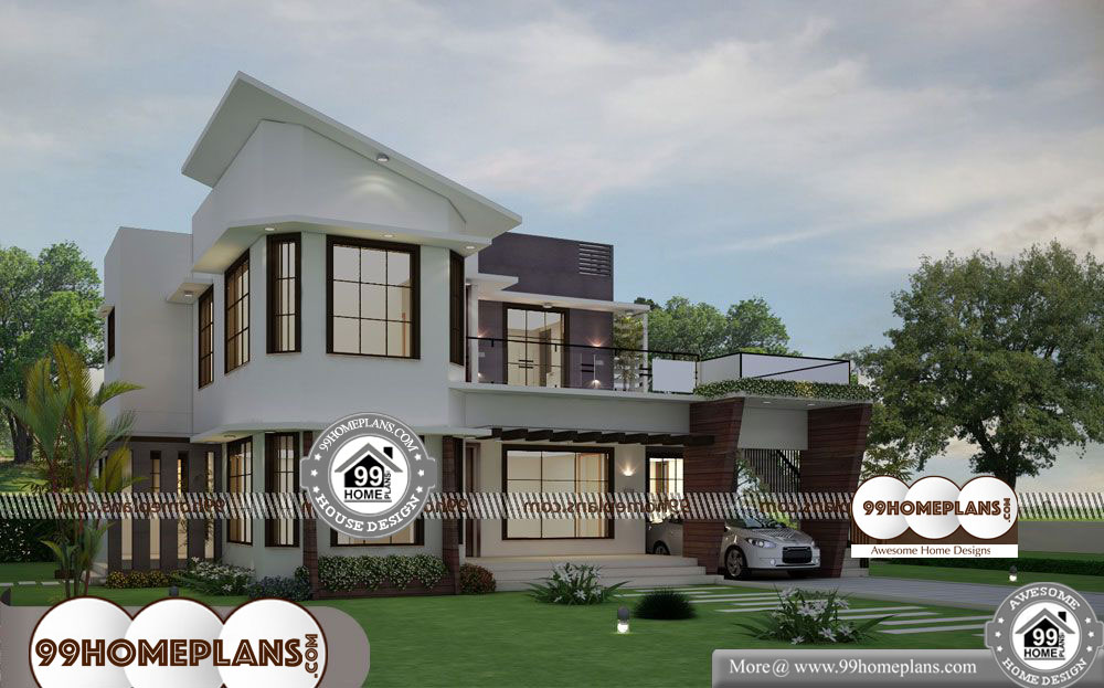 Latest Front Elevation Home Designs - 2 Story 2800 sqft-Home