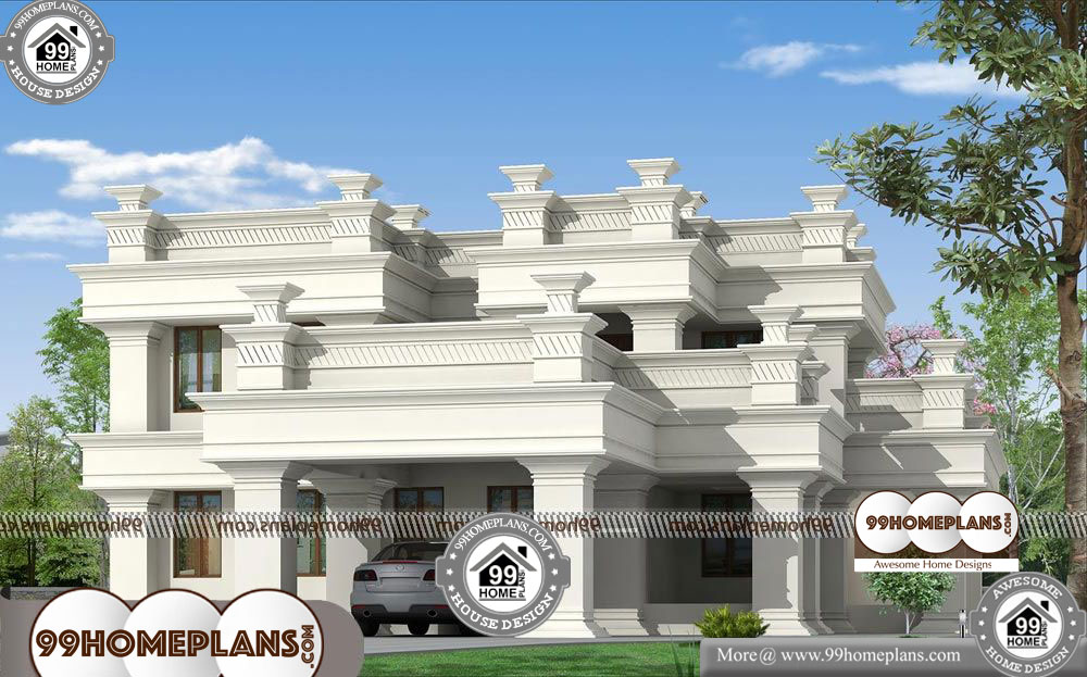 Low Cost House Construction Ideas - 2 Story 3200 sqft-Home