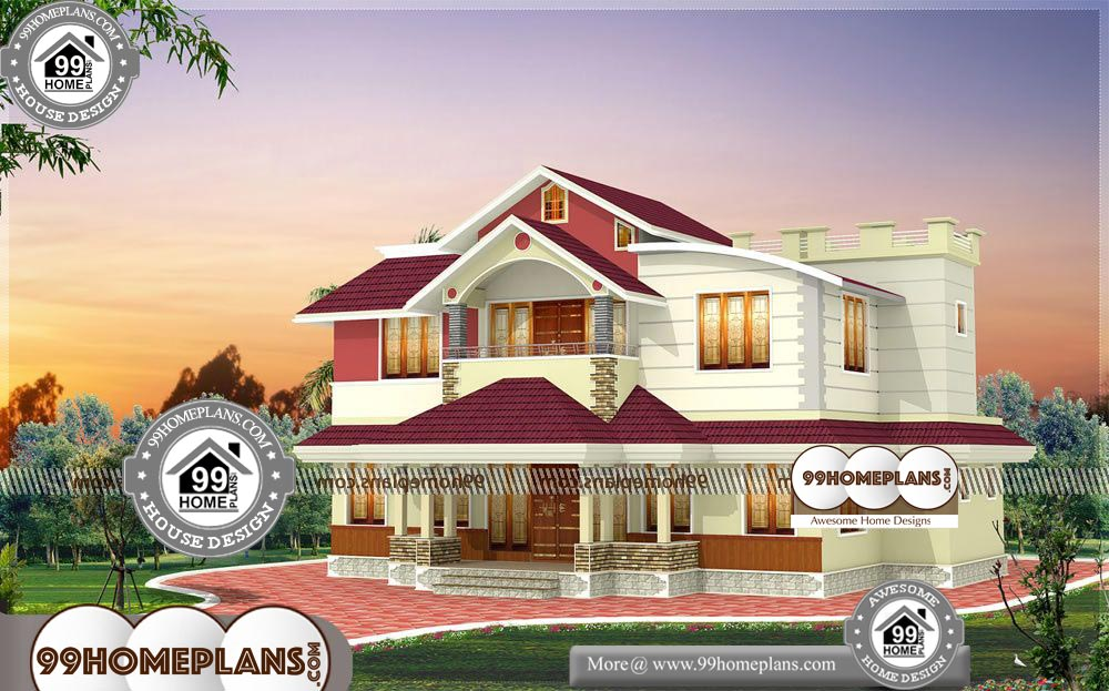 Low Cost Small House Plans 2 Story 2215 sqft Home - Get Low Cost Small House Design Two Storey Pictures