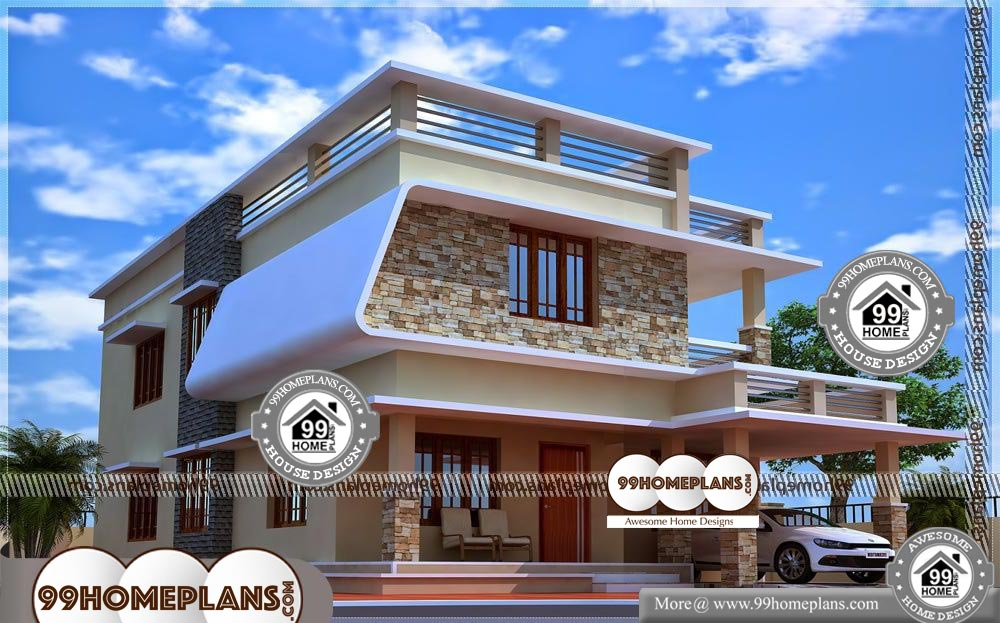 Low Income House Plans - 2 Story 1960 sqft-Home
