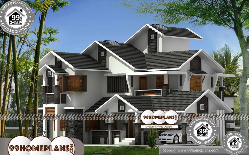 Luxury Modern House Plans - 2 Story 2330 sqft-Home