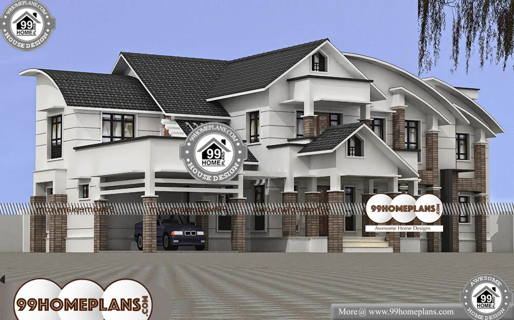 New Kerala House Plans - 2 Story 4600 sqft Home