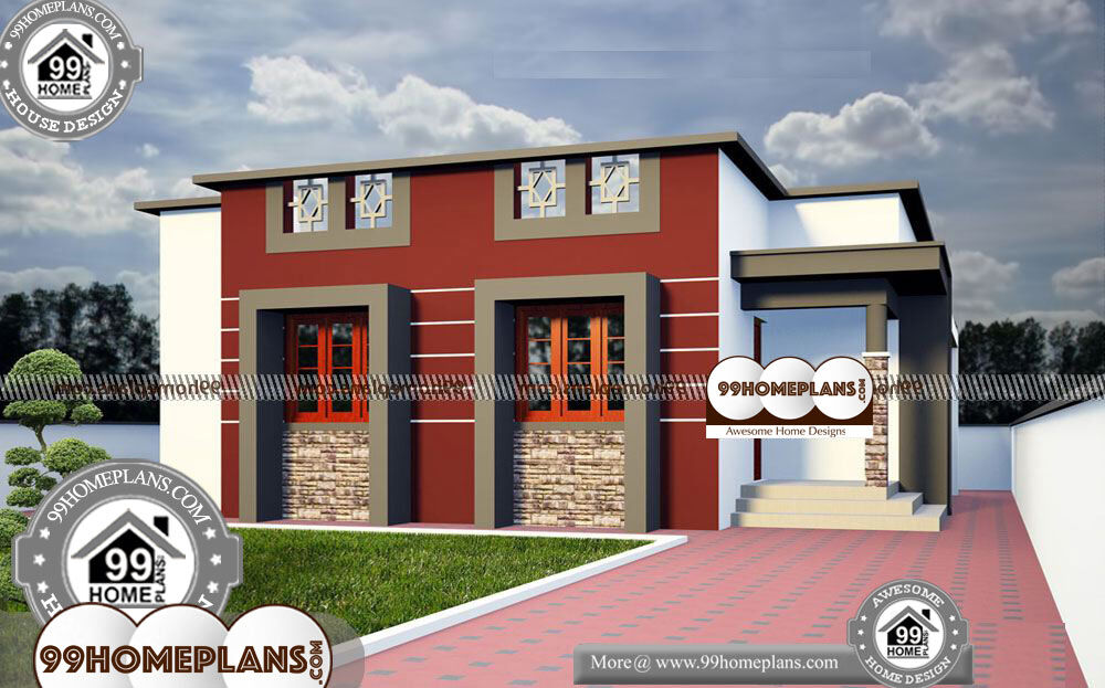 One Level House Plans with Open Floor Plans - One Story 950 sqft- HOME