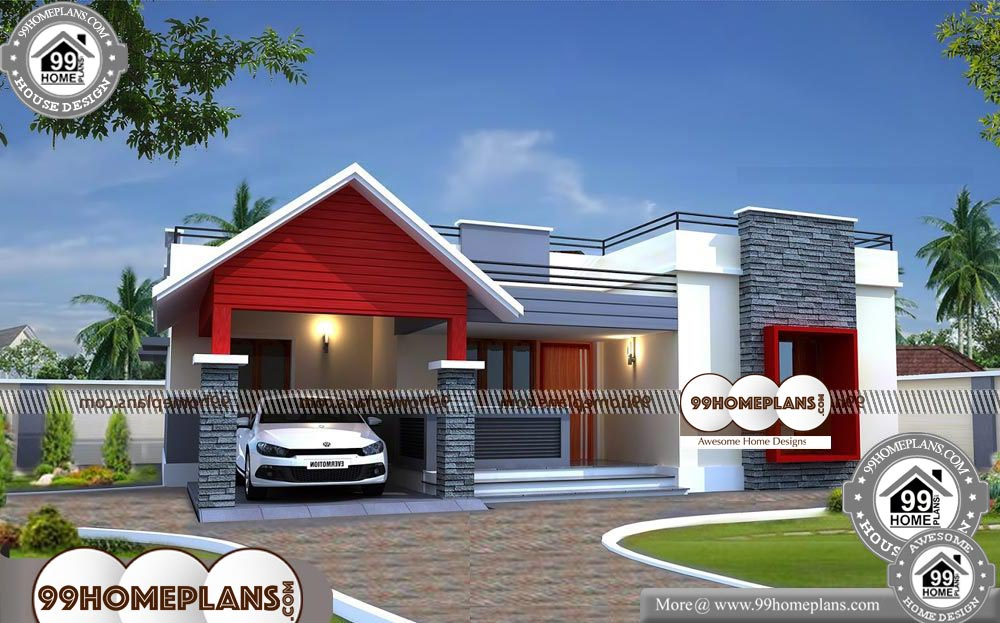 Simple One Story Floor Plans - One Story 1400 sqft-Home