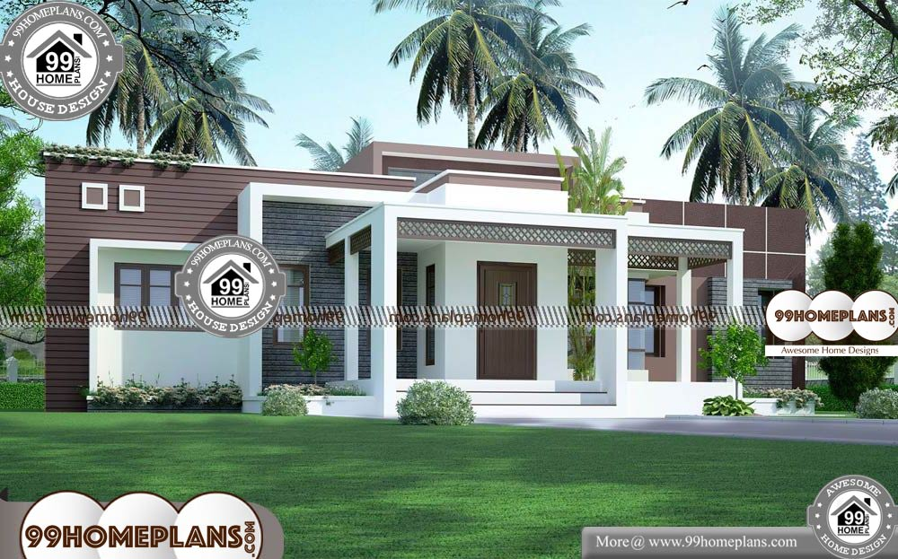 Single Bungalow House Design - One Story 1775 sqft-Home