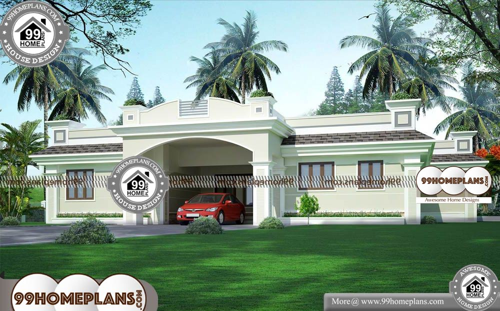 Single Story Bungalow House Plans - One Story 3076 sqft-Home