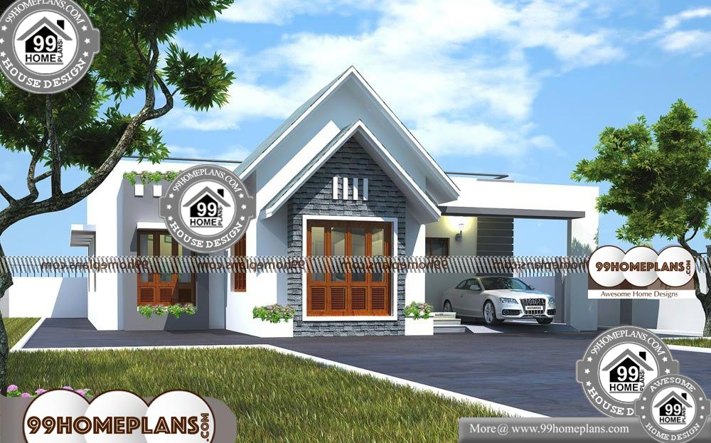 Single Story House Plans with Photos - One Story 1300 sqft-Home