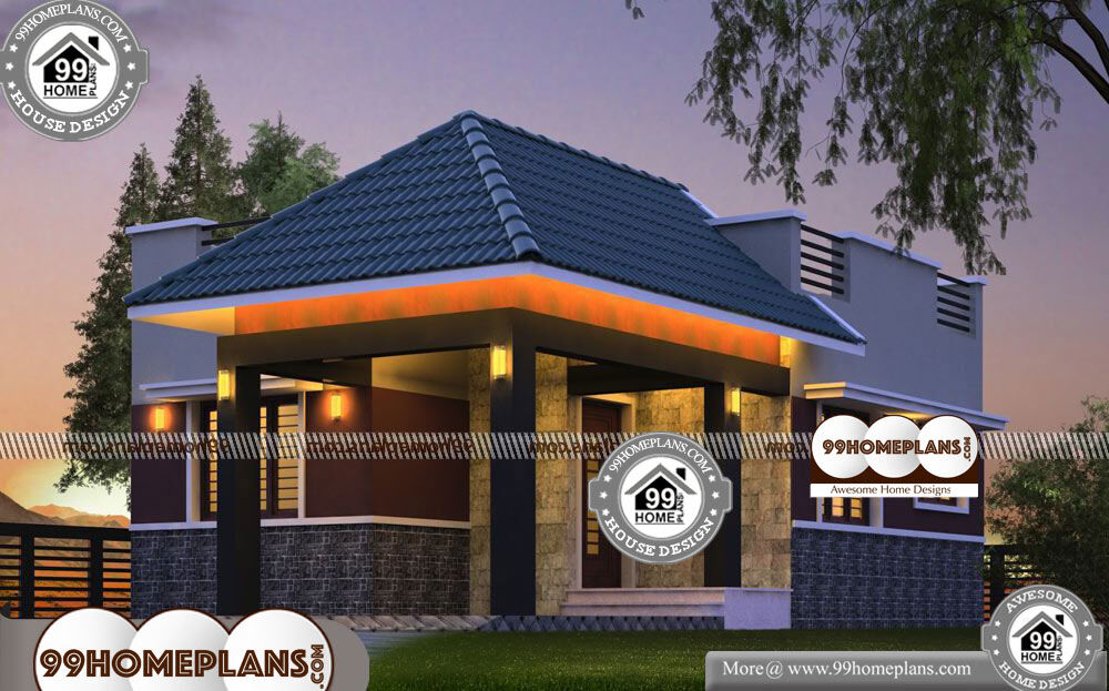 Small 2 Bedroom House Plans - One Story 763 sqft- HOME