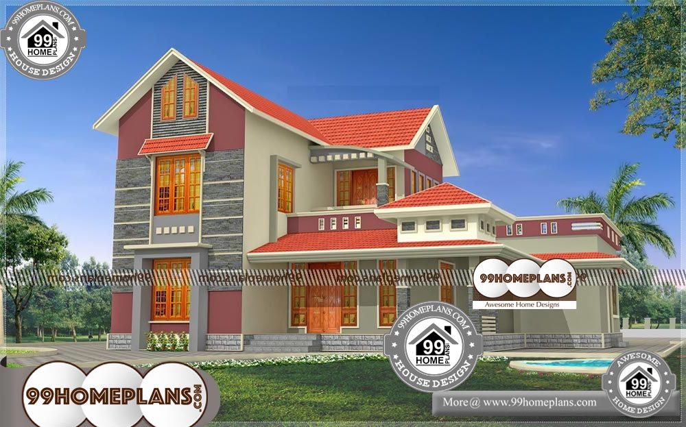 Small Beautiful Low Cost House Plan Design - 2 Story 2000 sqft-Home