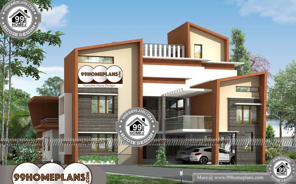 Small Cheap House Plans - 2 Story 6920 sqft-Home