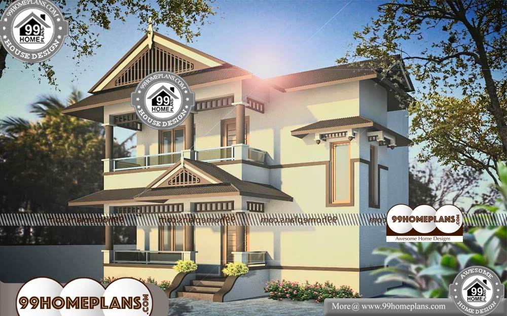 Small Elevated House Plans - 2 Story 1310 sqft-Home