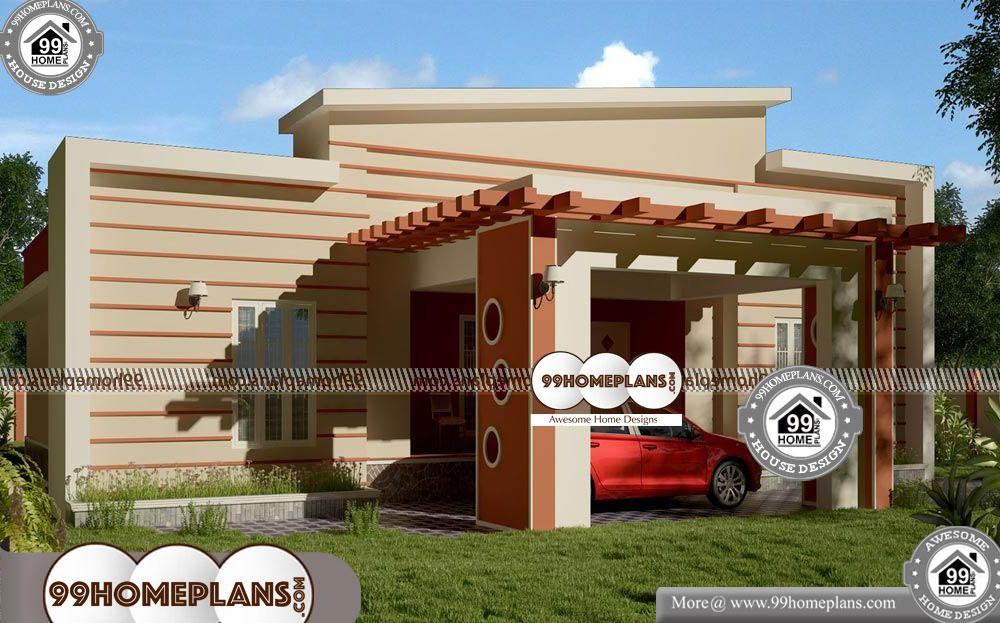 Small House Plans One Floor - One Story 1800 sqft-Home