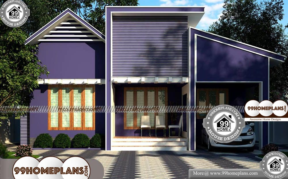 Small Single Floor House Plans - One Story 1000 sqft-Home