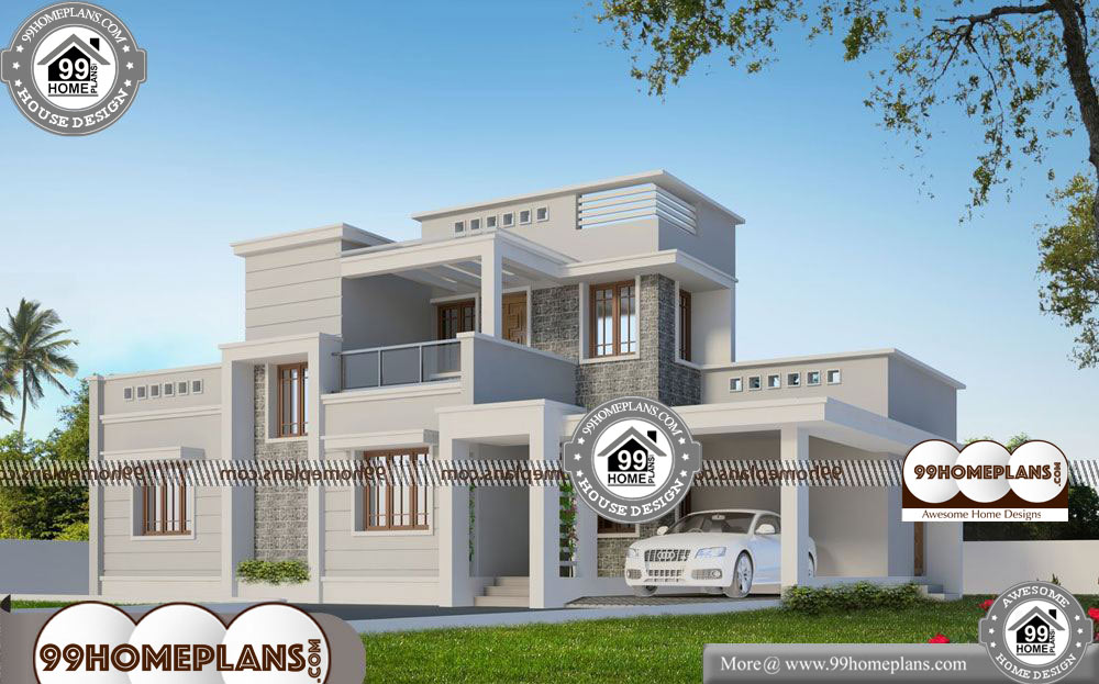 Two Storey House Plans for Narrow Lots - 2 Story 1800 sqft-Home