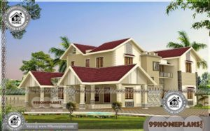 Beautiful House Plan and Elevation | 40+ Modern Two Storey House Plans