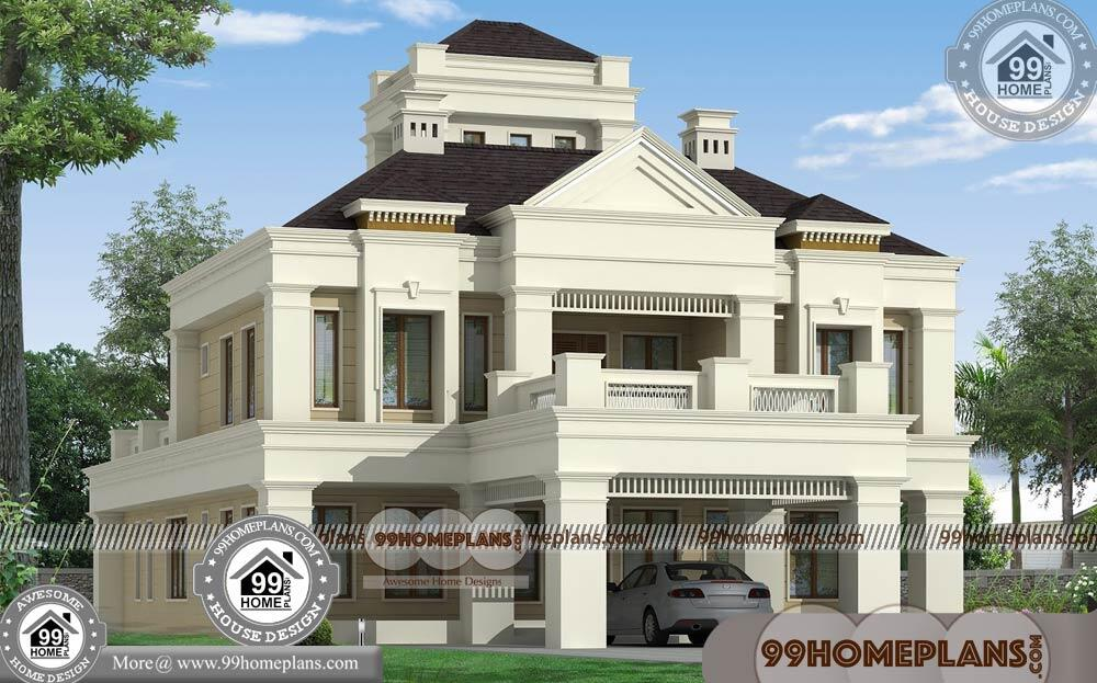 Bungalow Plan and Elevation Ideas   65+ Double Storey House Designs