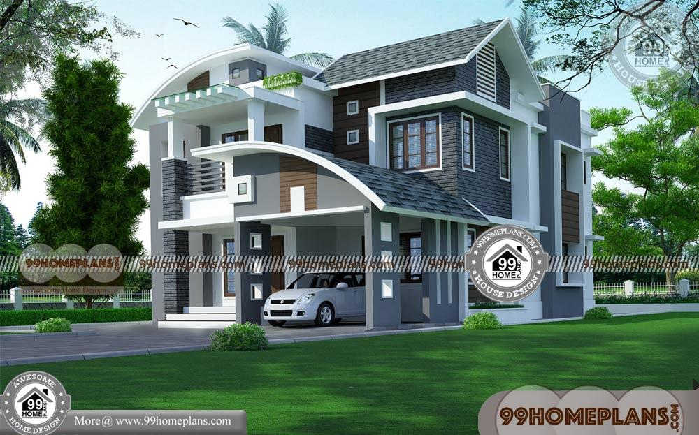 Free Indian House Plans and Designs | 50 Small Two Story House Designs