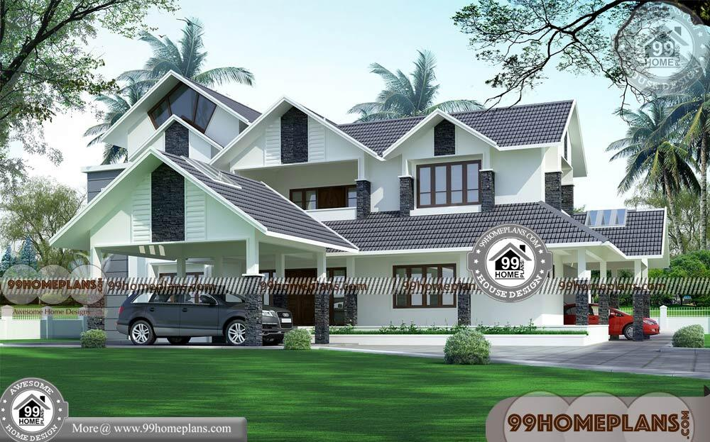 Home Design in Indian Style & 80+ Latest Two Storey House Design Plans
