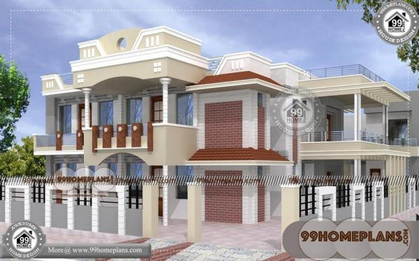 House Design With Floor Plan 70 Front
