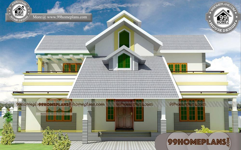 House Elevation Styles & Two Story Simple House Plans & Modern Ideas