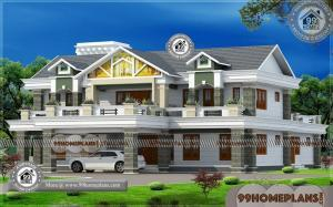 House Plans for Bungalows with Photos | 90+ Double Story House Plans