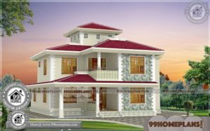 House Plans for Low Budget 75+ Two Storey House With Terrace Designs