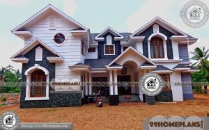 House with Floor Plan & 70+ 2 Floor Home Design Modern Collections