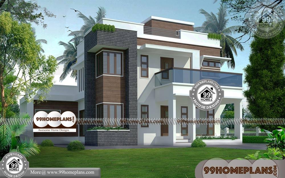 Indian Elevation Designs of Houses | 90+ Modern Two Story Homes Plans