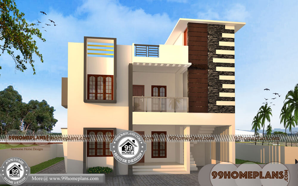 Indian Home Design 3d Plans 70 Two Storey Terrace House Designs