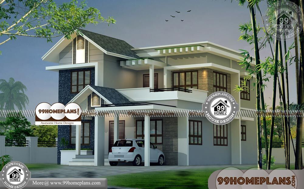 Indian Home Design Elevation | 90+ Modern Two Story Homes Collections