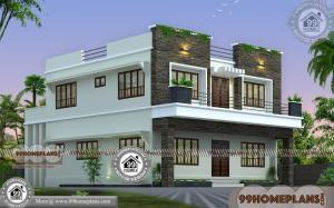 Indian House Plan Designs Free | 80+ 2 Story House With Balcony Design