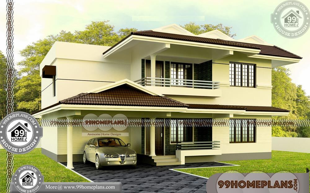 Indian House Plan Elevation Design | 90+ Latest Two Storey House Design