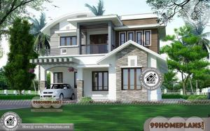 Indian House Plan with Elevation & 70+ Home Front Design Double Floor