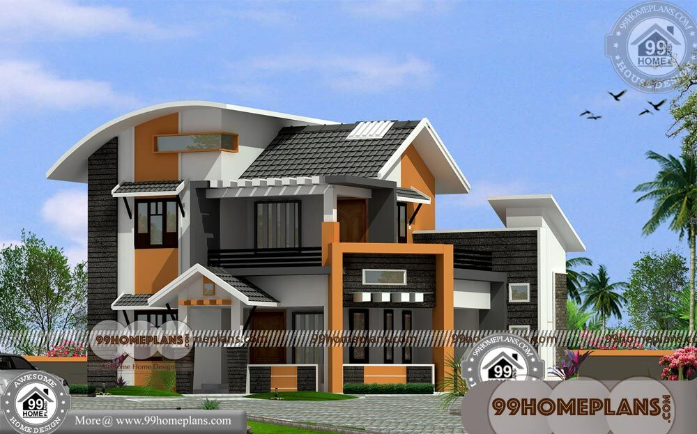 Indian New Home Designs 90+ 2 Story House Plans With ...