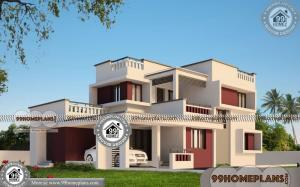 Kerala Modern House Plans 300+ Double Storey Houses With Balcony