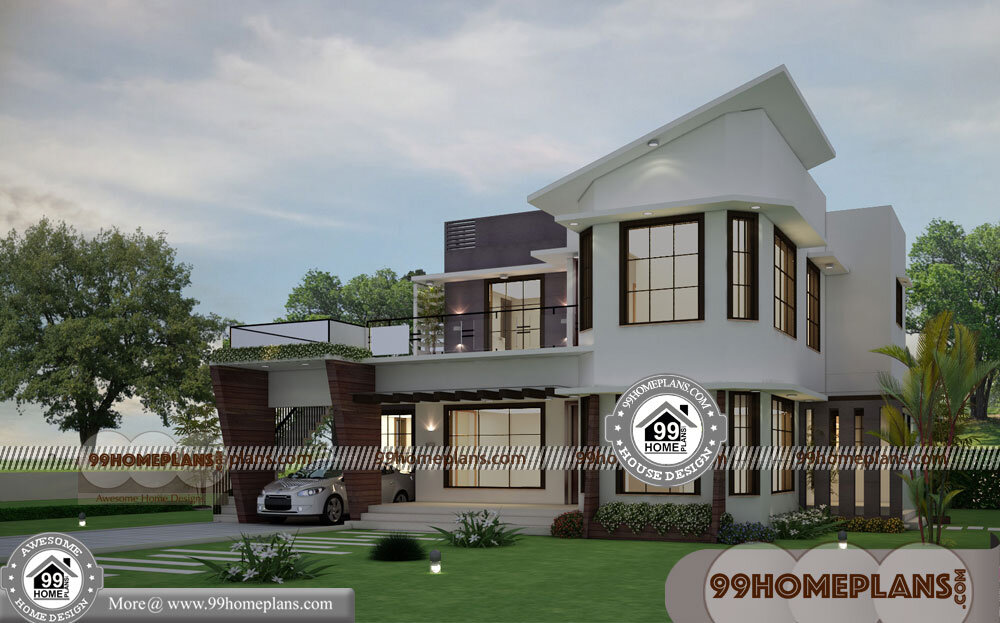 Latest Front Elevation Home Designs 40+ Double Story House Pictures