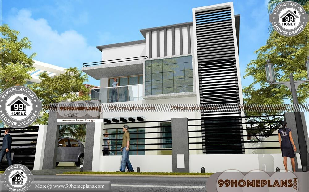 Low Budget Duplex House Plans 75+ Two Storey Small House Design