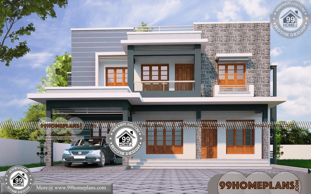 Modern Home Plans in Kerala Style 50+ Modern Two Storey Homes Plans