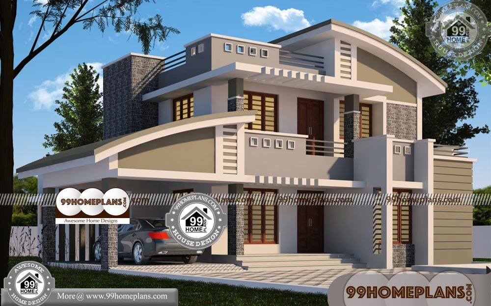 Modern Homes in Kerala 70+ 2 Storey House With Floor Plan Collections