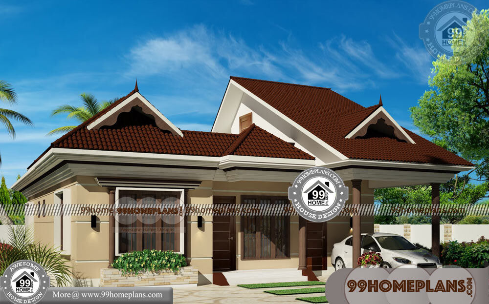 Modern One Floor House Plans & 100+ Traditional Kerala House Designs