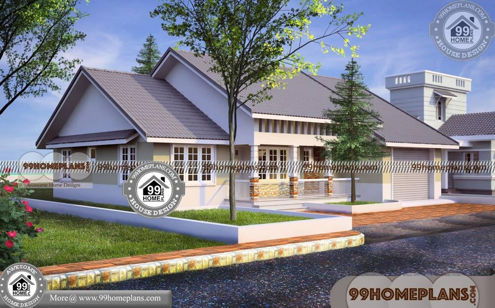 One Story 3 Bedroom House Plans 70+ Kerala Traditional House Models