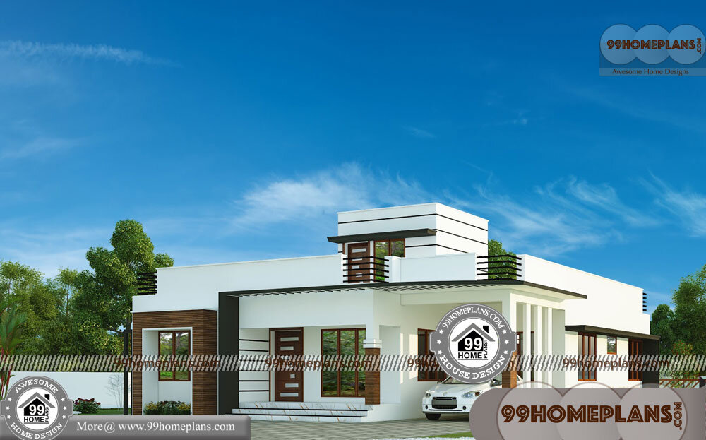 One Story Plans 70+ Low Cost Contemporary House Plans Collections