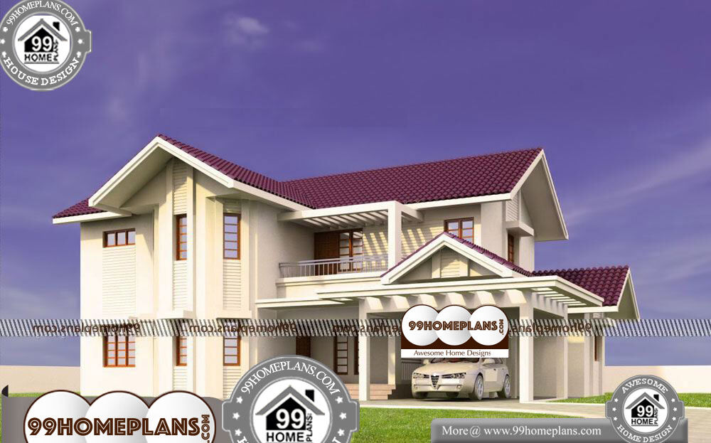 Plans for Small Houses Indian Style - 2 Story 2540 sqft-HOME