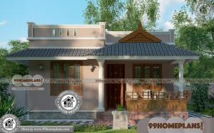 Simple Ground Floor House Plan with Kerala Traditional Style Homes