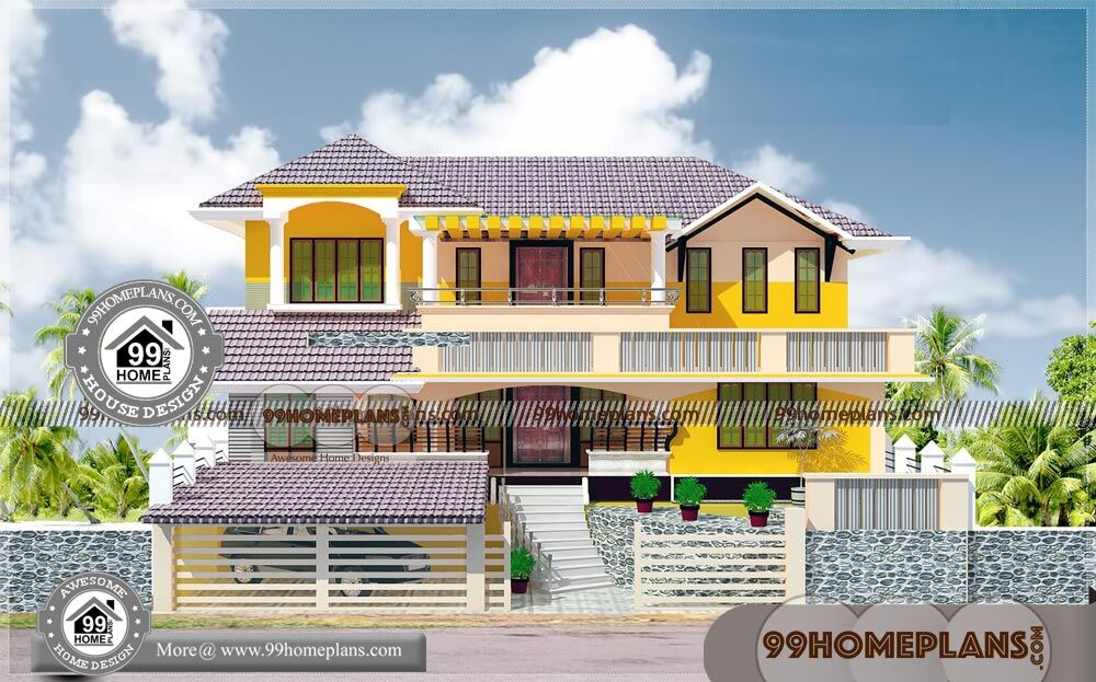 Simple House Elevation Models & Modern Two Story House Plans Ideas