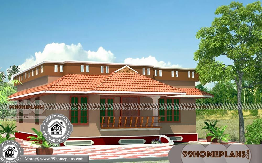 Single Floor Plan Design Collections | 50+ 3D House Plans Indian Style
