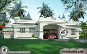 Single Story Bungalow House Plans & 60+ Kerala Contemporary Homes