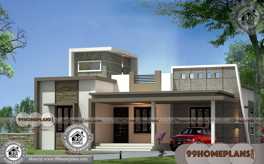 Single Story Open Floor Plans 60+ Kerala Contemporary
