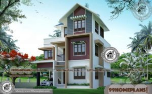 Small 1 Bedroom House Plans   90+ 2 Storey Modern House Plans Online
